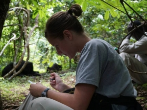 Emily Boehm (Ph.D. candidate) in Gombe National Park, Tanzania